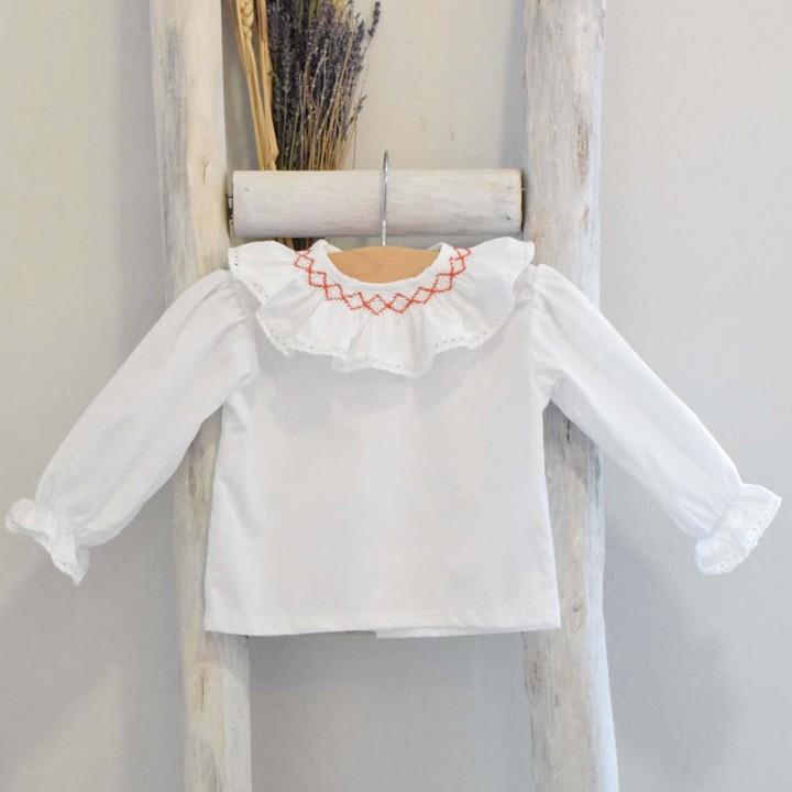 Camisa Bordada Tijolo