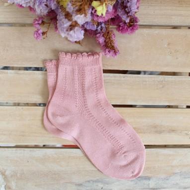 Dusty Pink Openwork socks