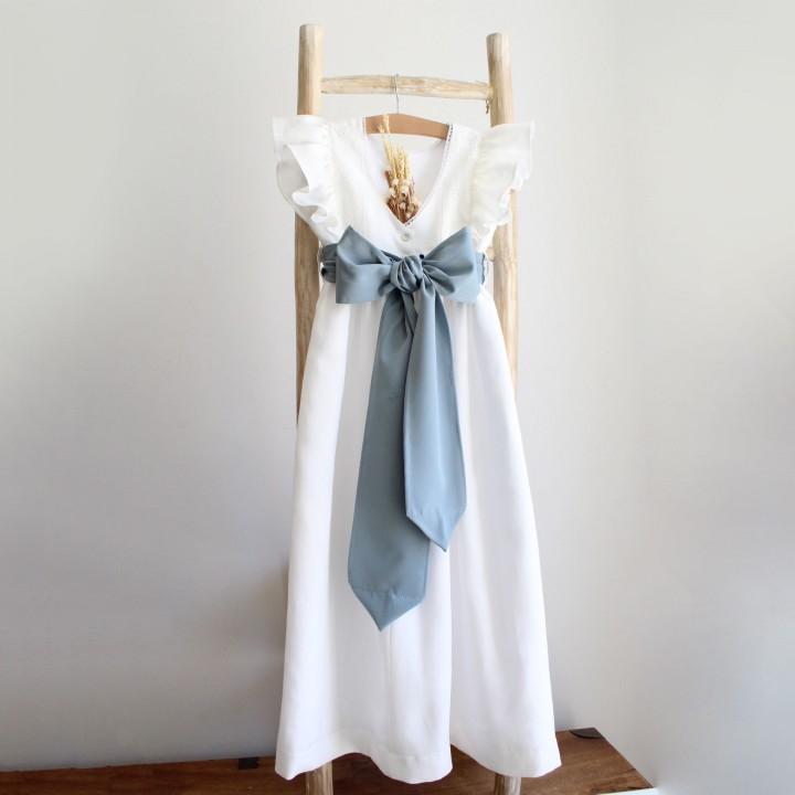 Vestido Comprido com Bordado Inglês
