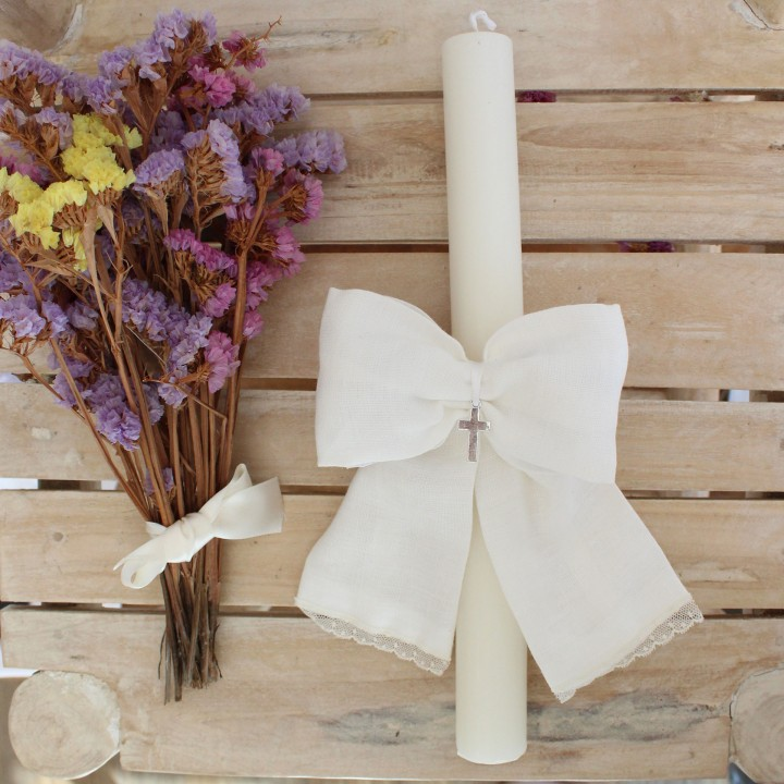 Candle with Ivory bow