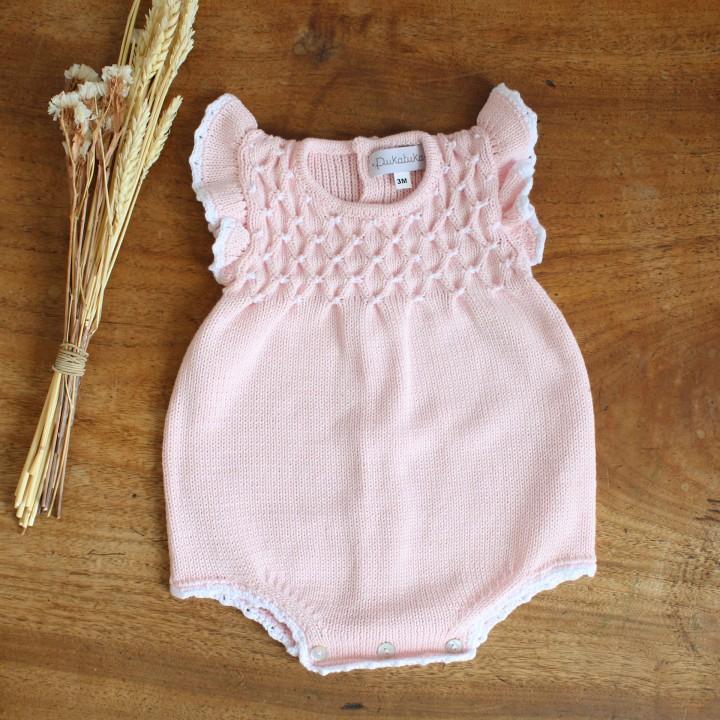 Cotton Light Pink Romper