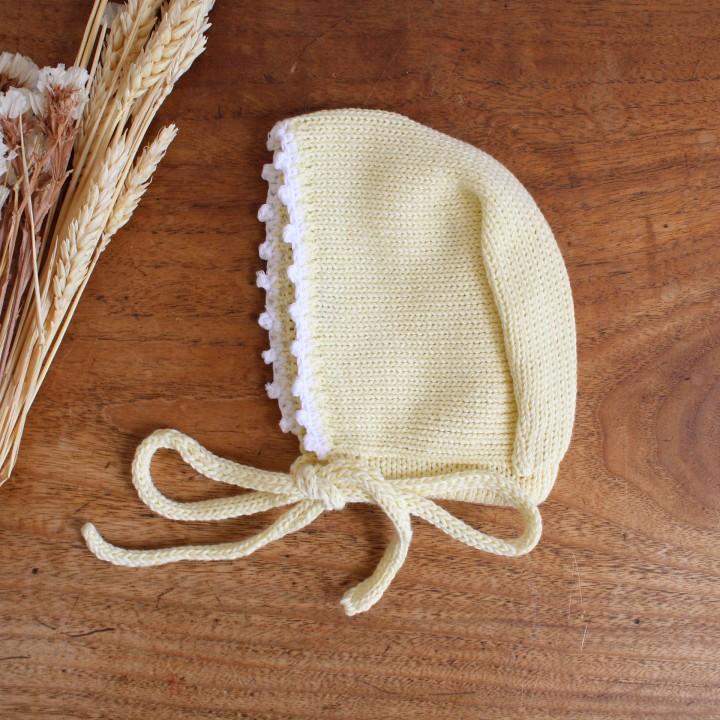 Trim cotton Bonnet