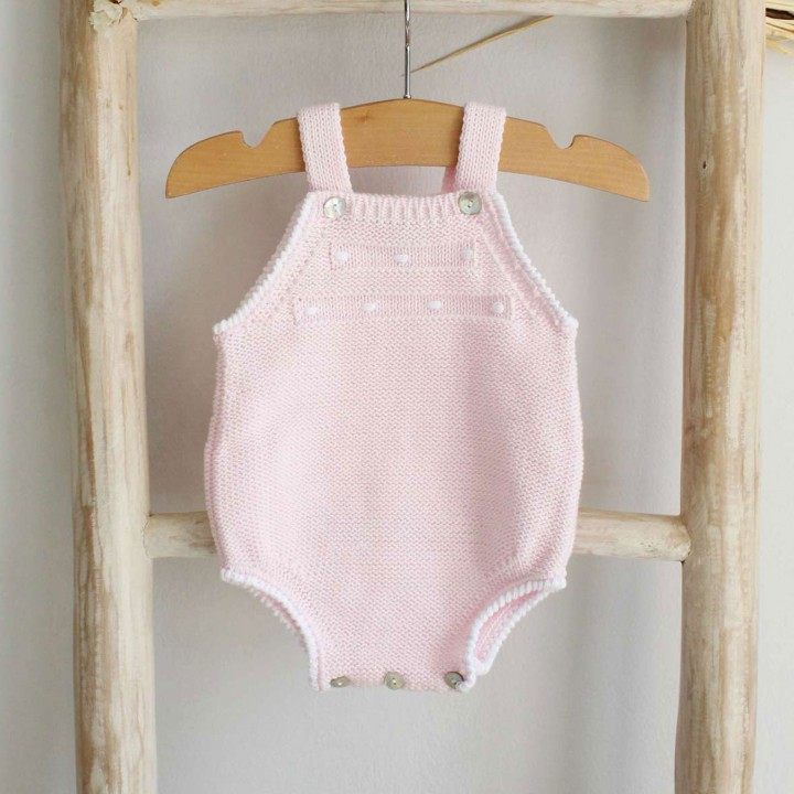 Cotton romper with Dots