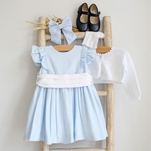 Blue Frilly Dress