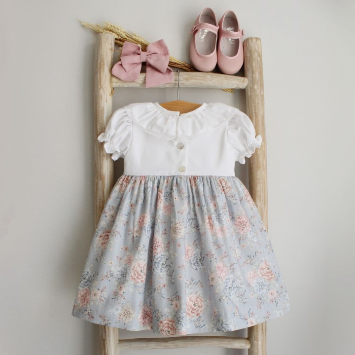 Floral Mix Dress with bow