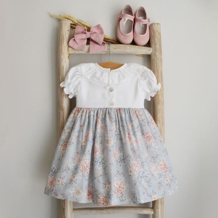 Vestido Mix Flores e Laço
