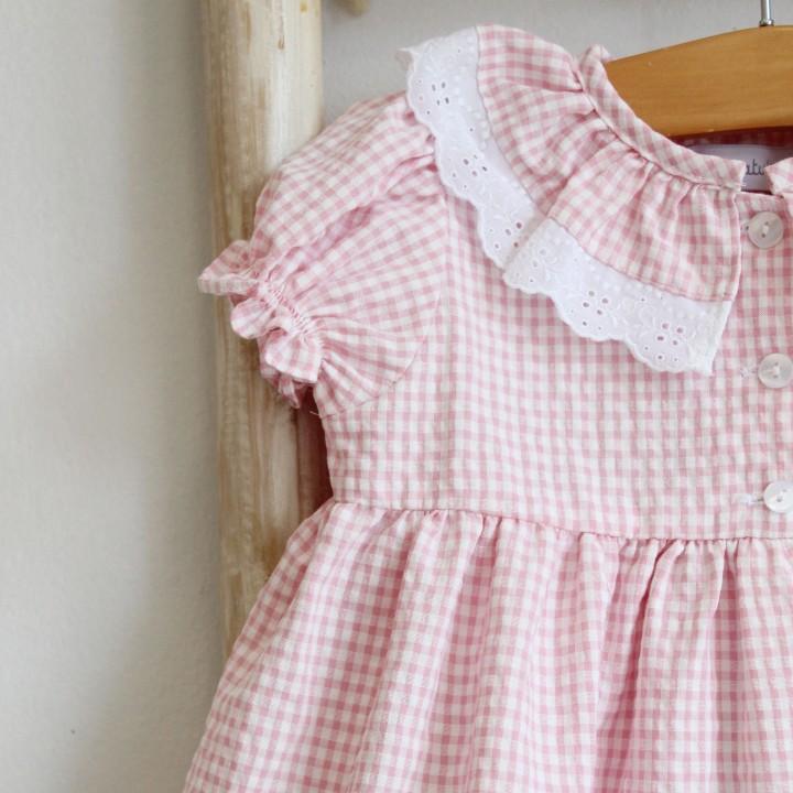 Pink Vichy Sleeping gown