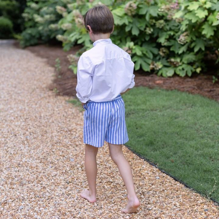 Blue stripes shorts