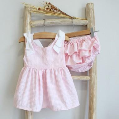 Pink Vichy Set