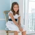 Linen Dress with dark blue sash