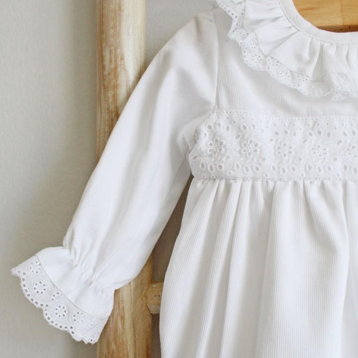 White English Embroidery Romper