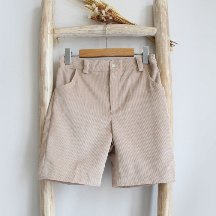 Corduroy beige shorts