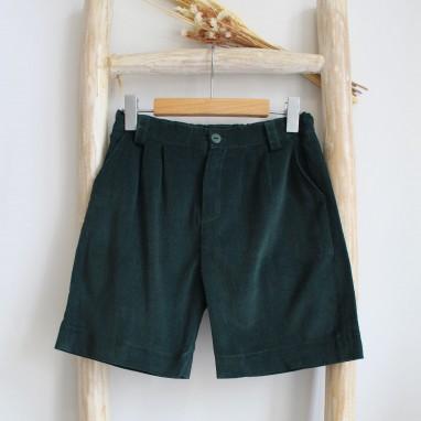 Corduroy Green shorts