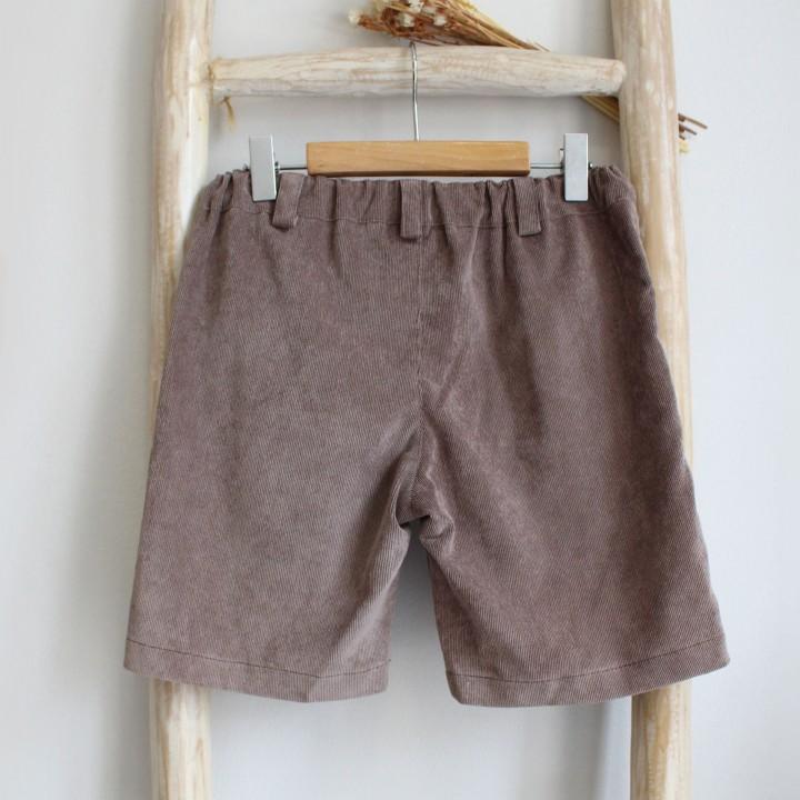 Corduroy taupe shorts