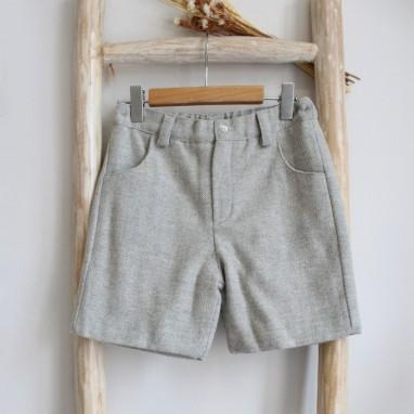 Grey Tweed shorts