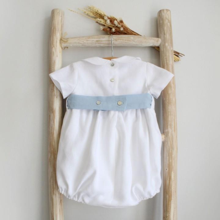 White Linen Romper