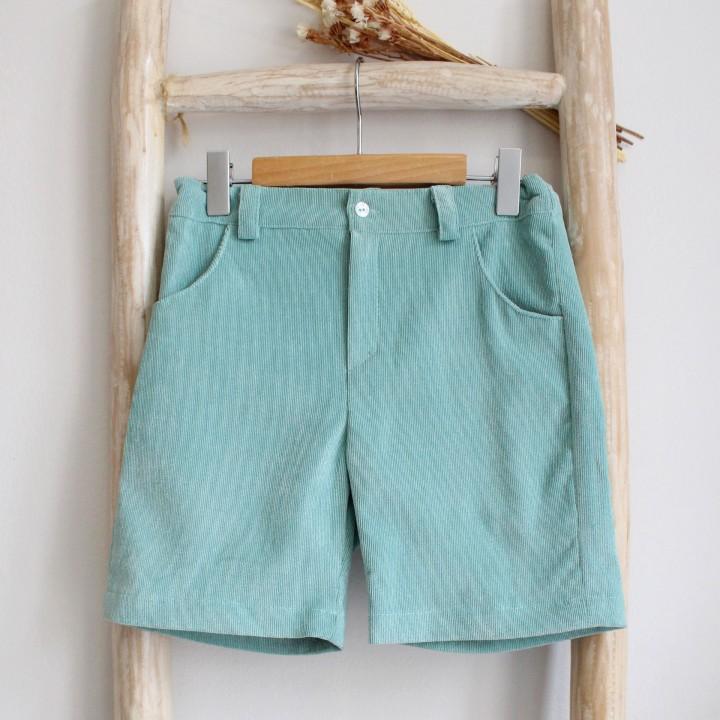 Green Corduroy shorts