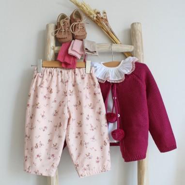 Calças Rosa com Renas