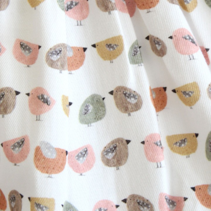 Frilly Tunic with Birds