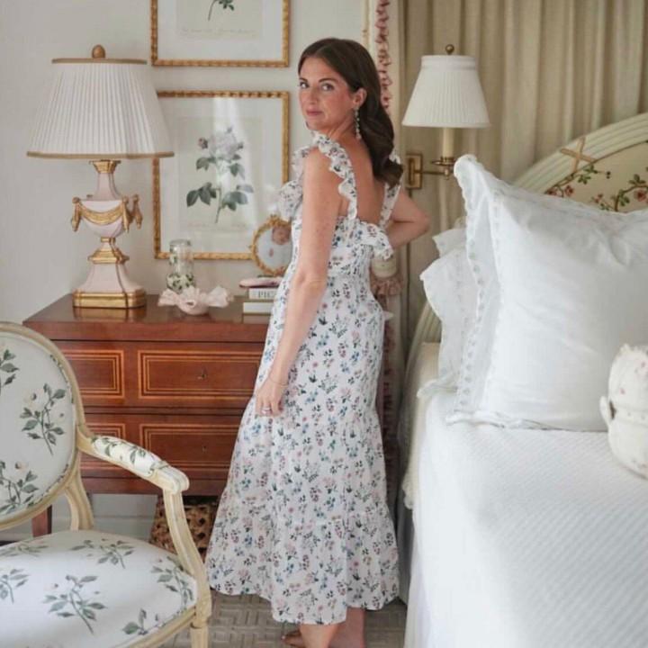 Vestido Branco Liberty Flores