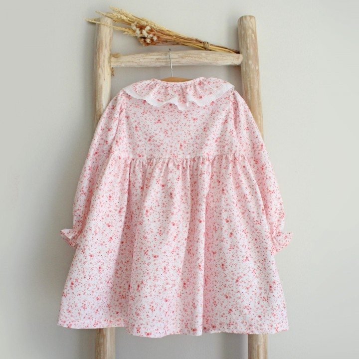 Camisa noite flores rosa