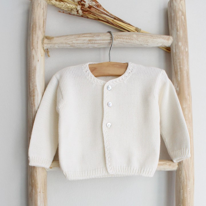 Ivory Knitted Cardigan