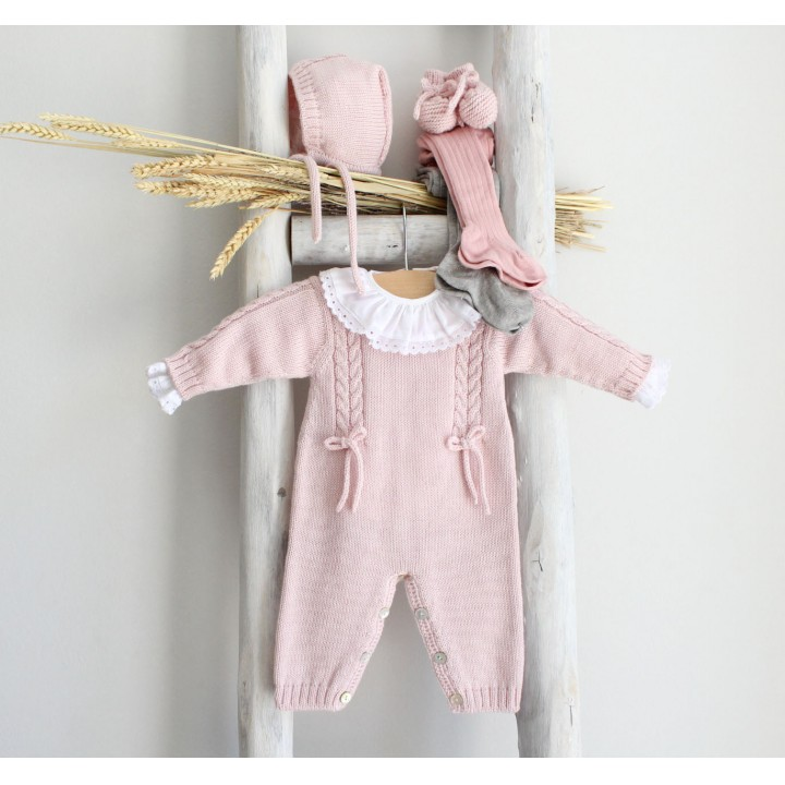 Cable Knitted Romper