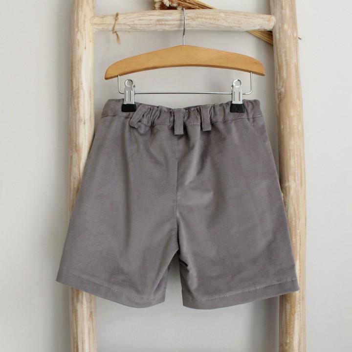 Gray Corduroy shorts