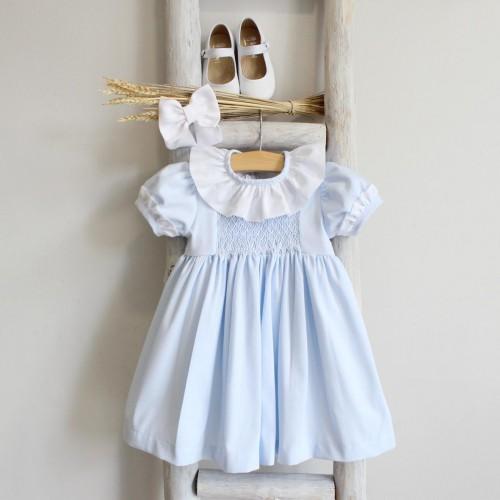 Vestido Azul Bordado