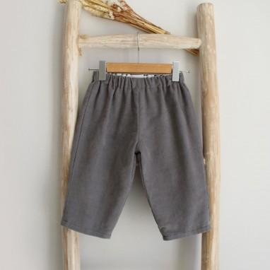 Gray corduroy pants