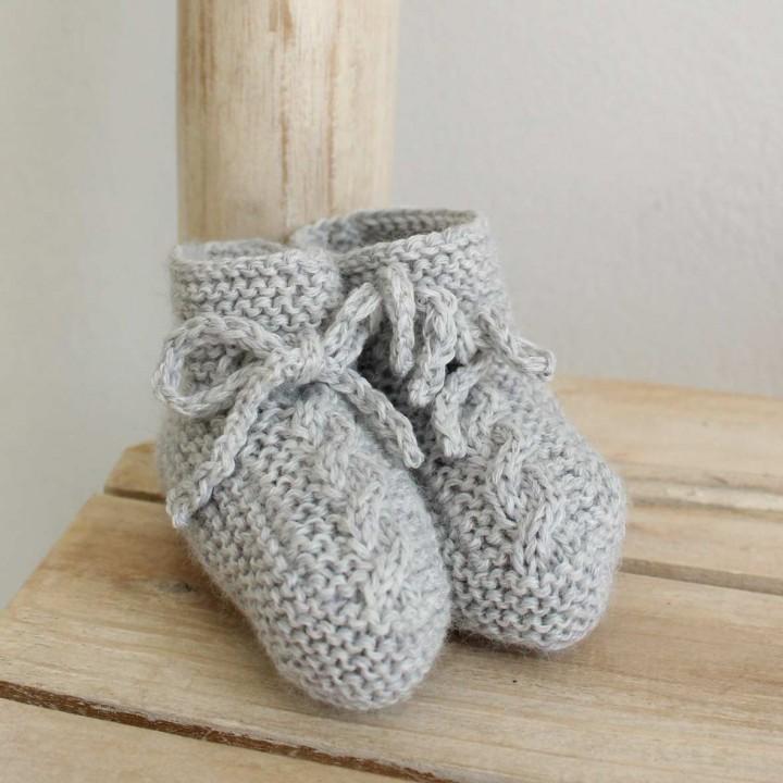 Botinhas em lã com Torcidos