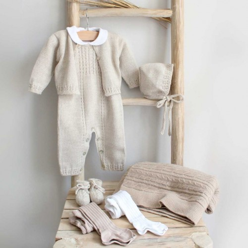 Sand Knitted Overalls