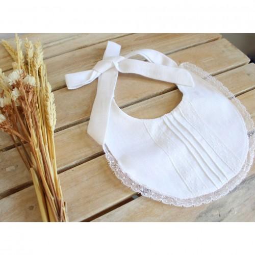 White Linen Bib