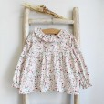 Floral Tunic with frilly collar