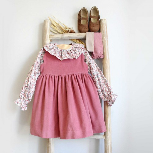 Dusty Pink Corduroy Dress