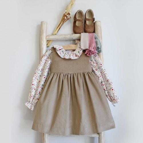 Beige Corduroy Dress