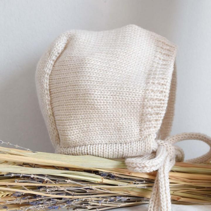 Sand Knitted Bonnet