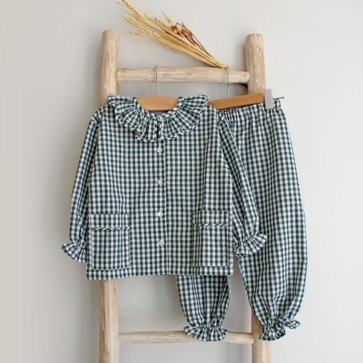 Pijama menina vichy Verde