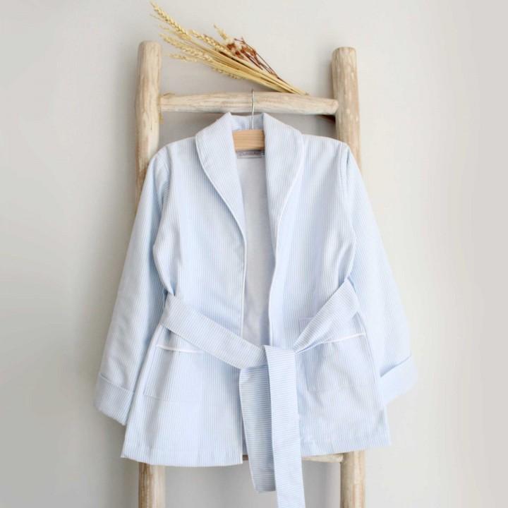 Blue Striped Robe