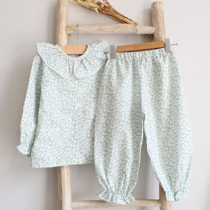 Pijama Flores Verdes