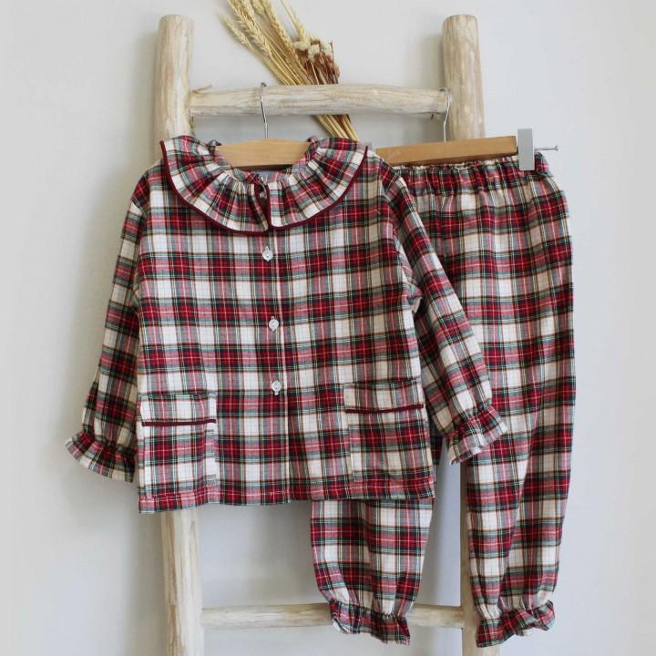 Burgundy Tartan Pyjama