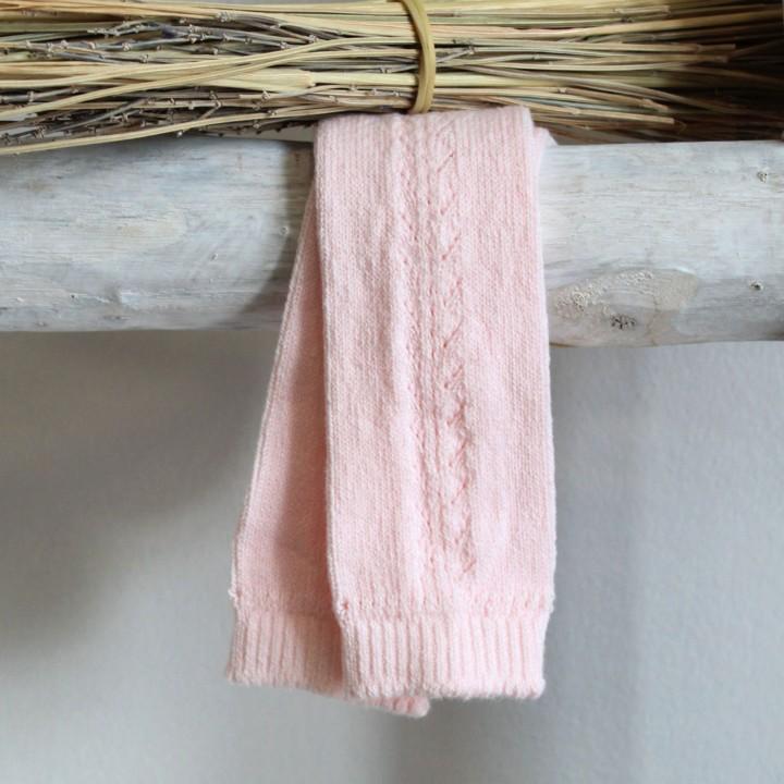 Open work Knee High Light Pink Socks