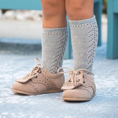 Open work Knee High Socks