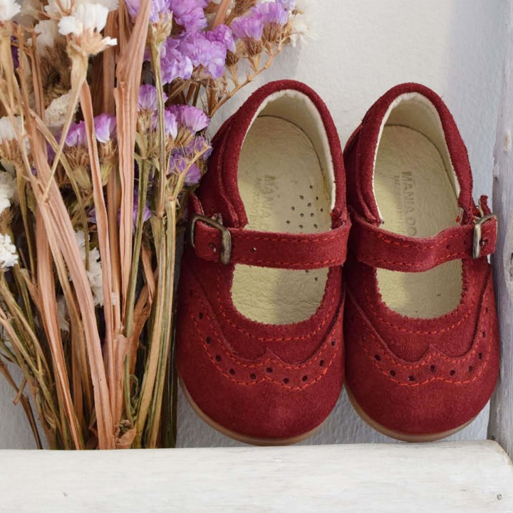 Suede Mary Janes
