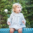 Floral Romper with Frilly collar