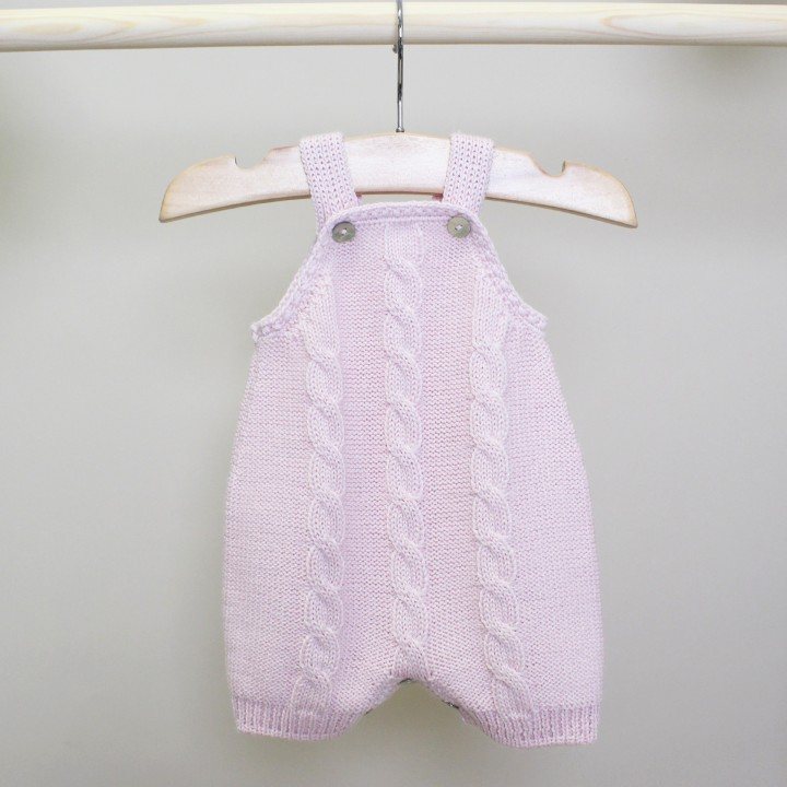 Pink Knitted Overalls