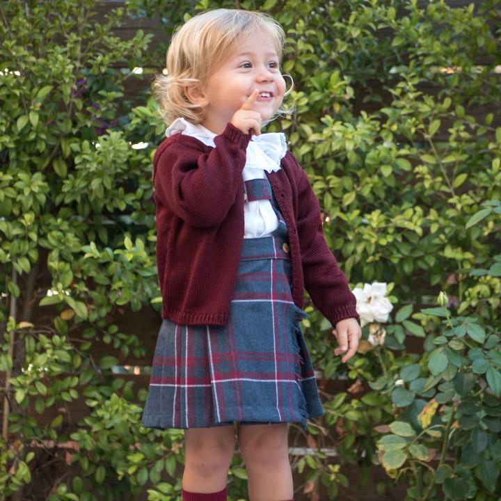 Tartan Skirt with Straps