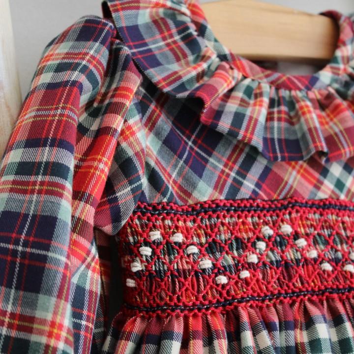 Tartan Hand Smocked Dress