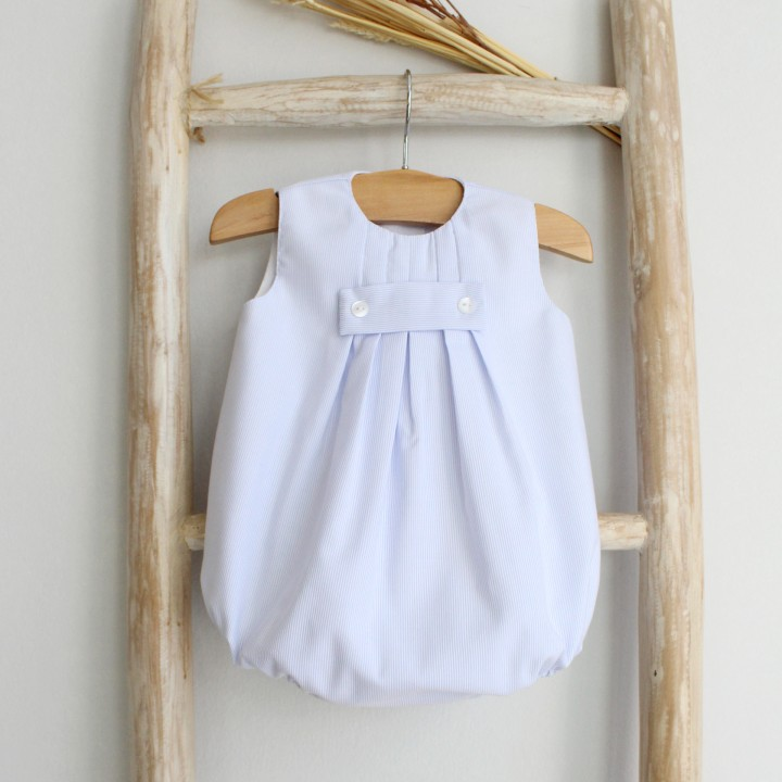 Sleeveless Romper with Stripes